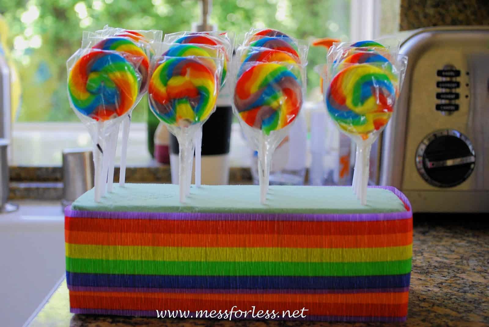 Rainbow Lollipops Party Favors