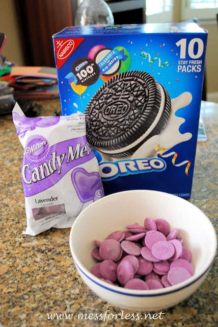 oreo cookies and candy melts