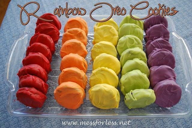 These Rainbow Oreo Cookies are amazing!