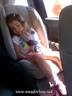 sleeping child, carseat