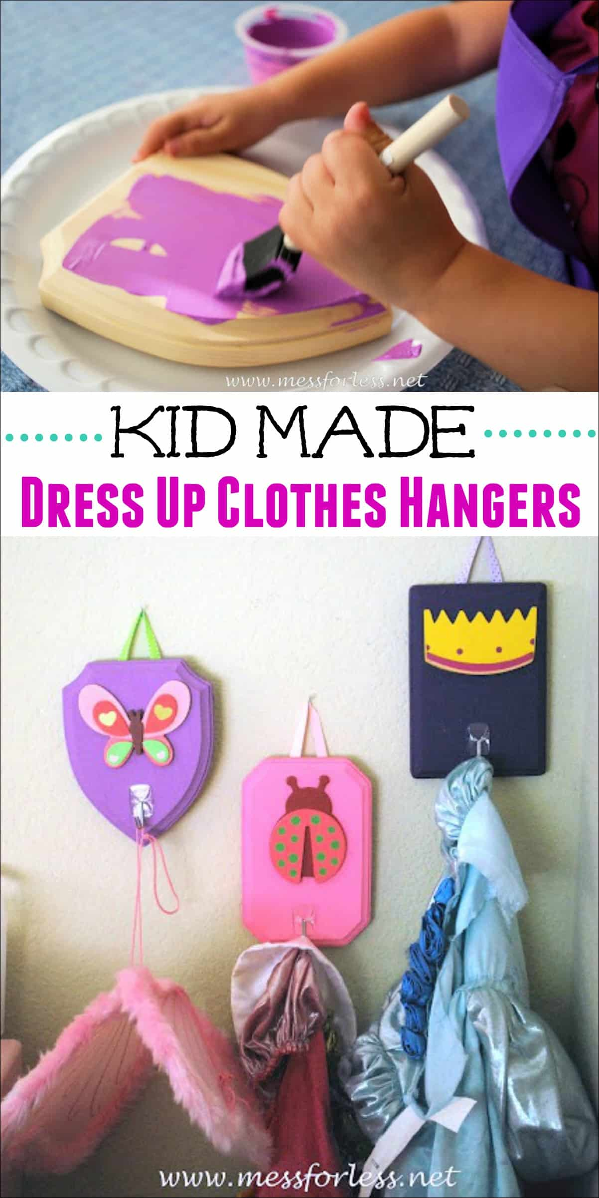 Kids can help to make these DIY Playroom Organizers. They are a great way to organize the playroom and keep dress up clothes off the floor.