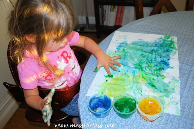 Finger paint recipe