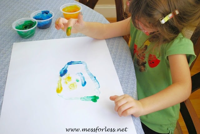 homemade finger paint