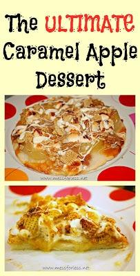 Caramel Apple Pizza Dessert