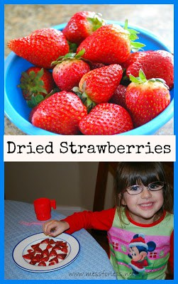 Easy Dried Strawberries