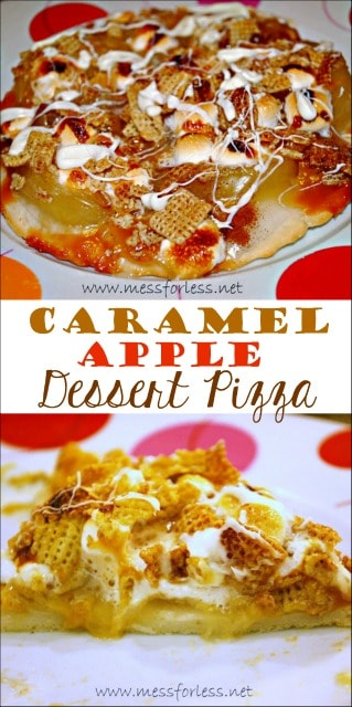 This Caramel Apple Dessert Pizza is like a loaded apple pie! I couldn't believe it took only 20 minutes to make. I'll be making this next time I have an apple pie craving.