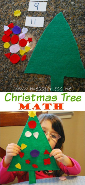 A fun way for kids to celebrate the season and decorate a tree using their math skills. Love this Christmas Tree Math Game!