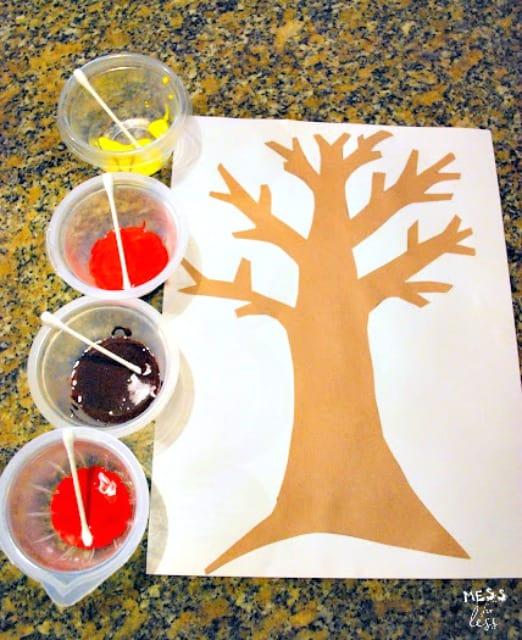 Q-Tip Fall Tree