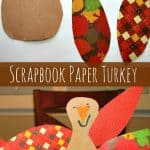 Scrapbook Paper Thanksgiving Turkey Craft