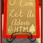 Mommy Craft: Christmas Chalkboard Frame
