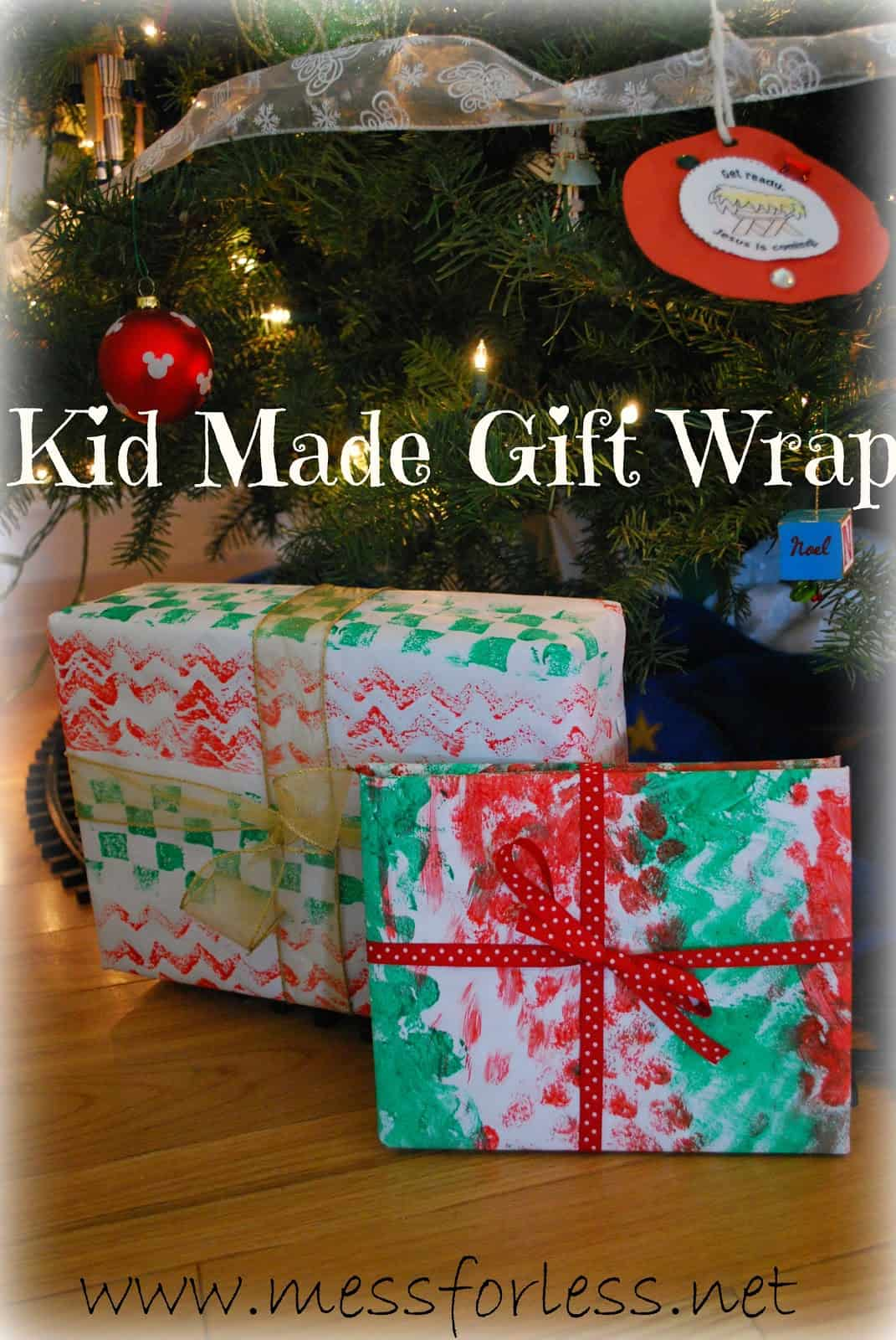 Kid Made Gift Wrap - Mess for Less