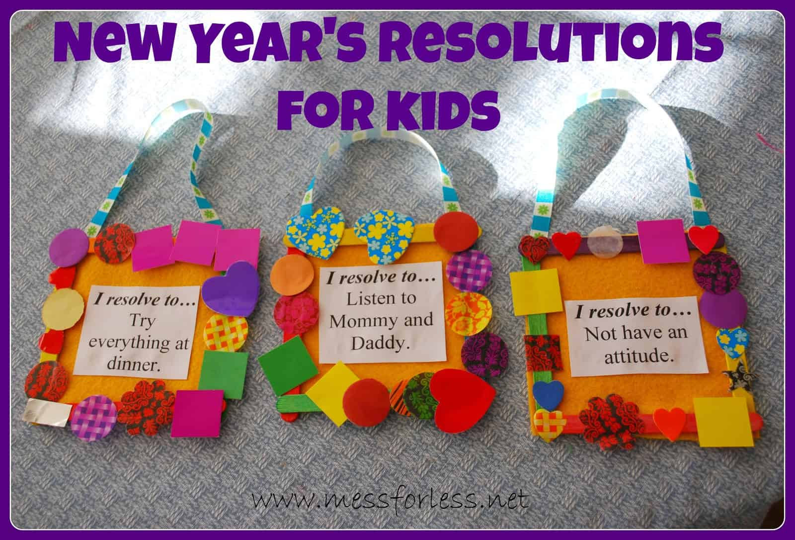 New Year's Resolutions for Kids - Mess for Less