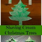 Shaving Cream Christmas Trees