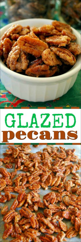 These candied pecans make great holiday gifts. They are also great to serve at parties. Sweet and oh so addicting!