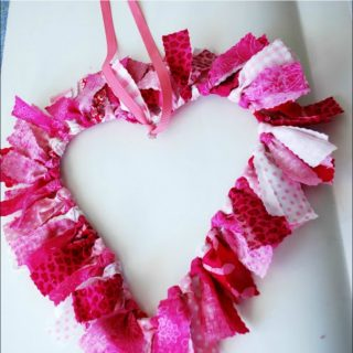DIY Valentine's Fabric Wreath
