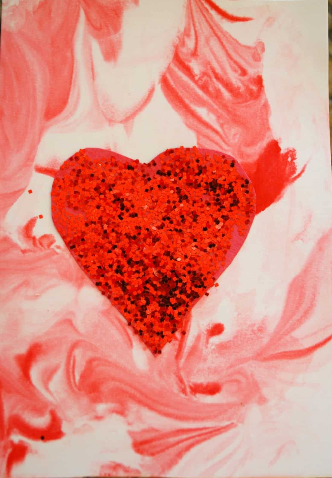 valentine u0027s day cards using shaving cream mess for less