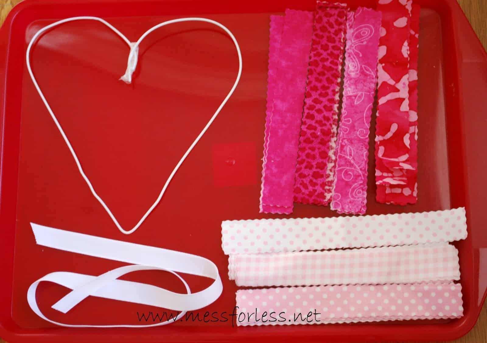 Diy Valentine S Fabric Wreath Mess For Less