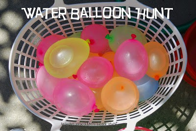 Mess For Less, Water Balloon Hunt, #water-balloons, #kids, #play, #summer