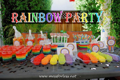 rainbow party, rainbow birthday