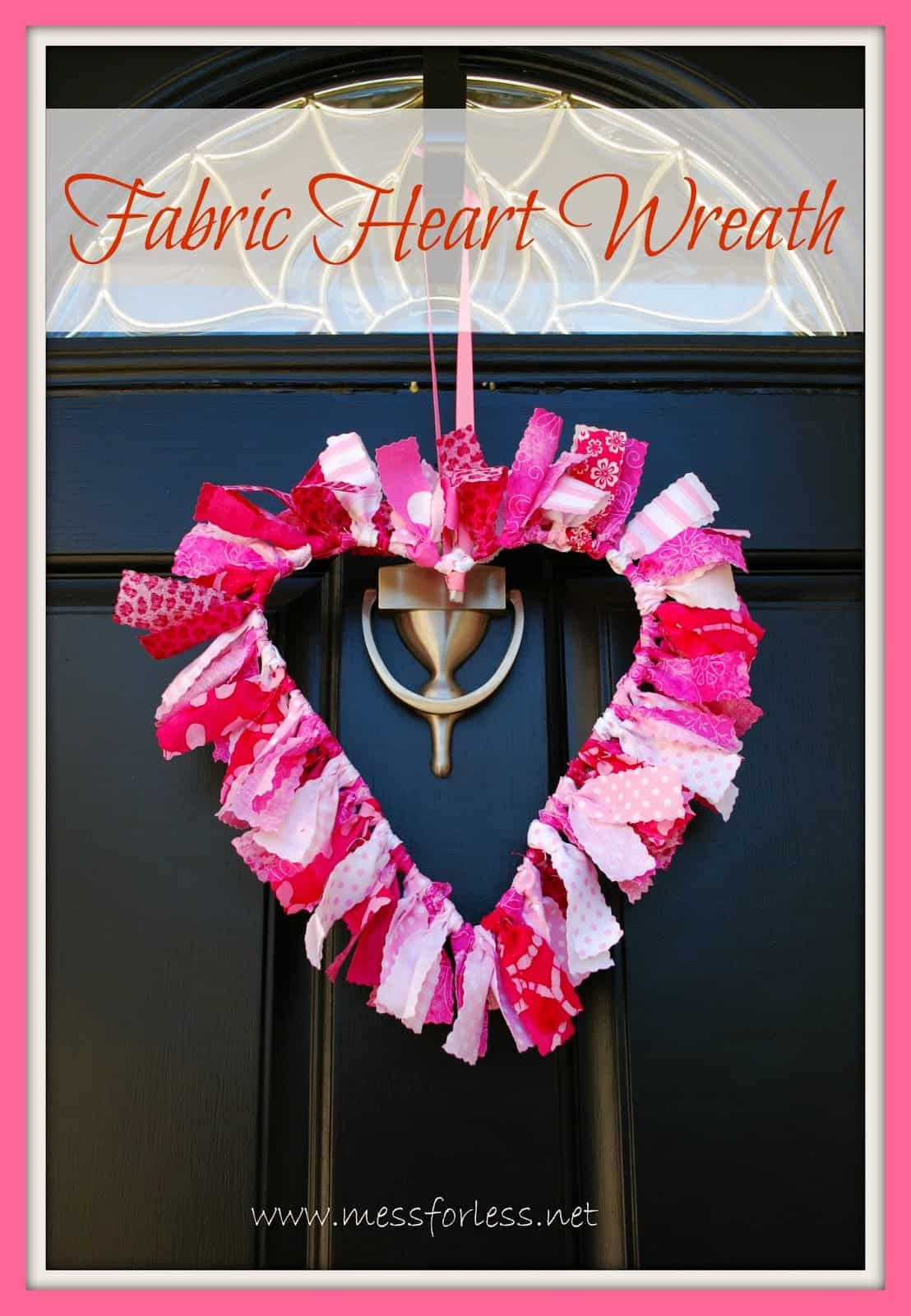 valentine decoration heart shaped fabric wreath crafts valentines