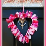 Valentines Idea: Fabric Wreath