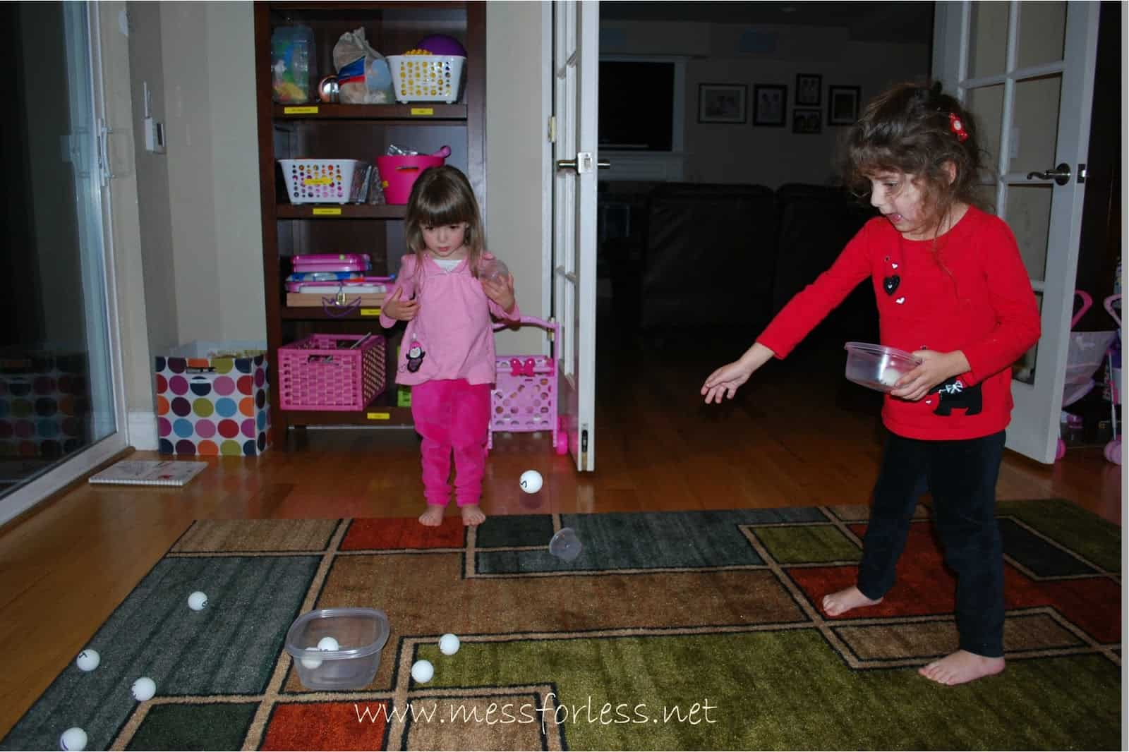 Fun Math Numbered Ball Toss Mess For Less