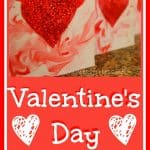 Valentine's Day Cards using Shaving Cream