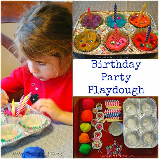 Birthday Party Playdough, Playdough Games, #playdough
