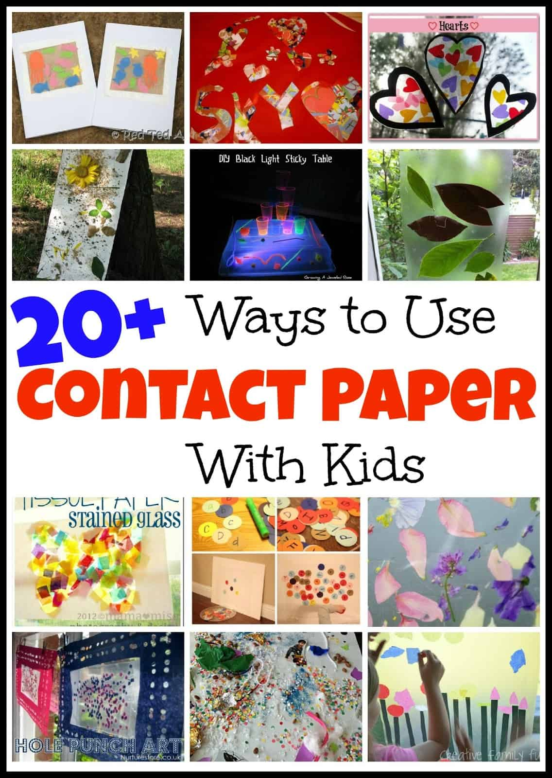 20 ways to use contact paper with kids mess for less