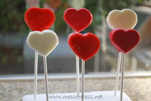 Valentines heart pops