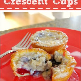 Crescent Roll Recipes – Fruit Filled Crescent Cups