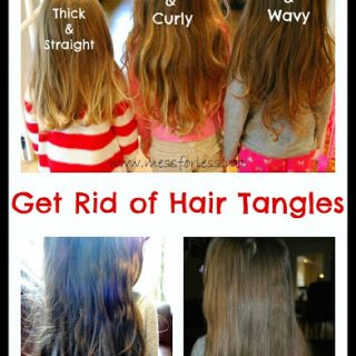 Get Rid of Hair Tangles Plus a Recipe for Hair Detangler