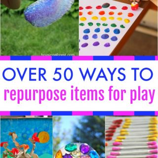 50+ Ideas for Repurposing Items for Play