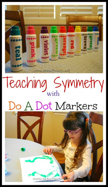 Preschool Art Activity to Teach Symmetry from Mess For Less #kids #math