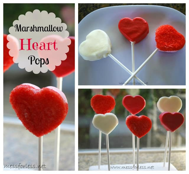 Marshmallow Heart Pops - These are perfect for a class party. So many ways to decorate them!