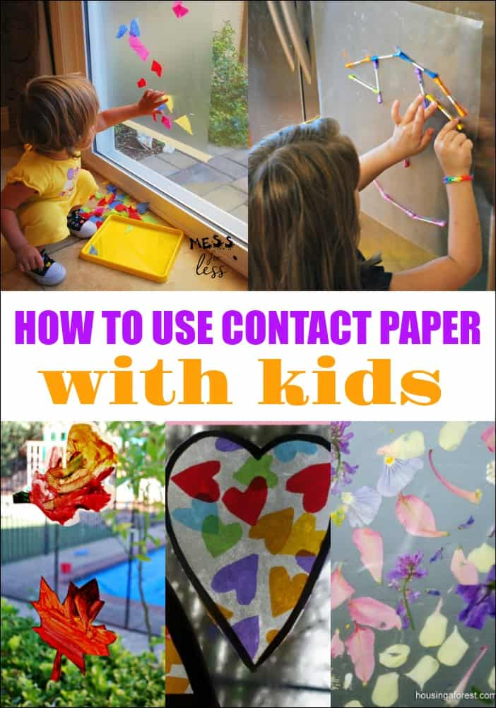 Ways to Use Contact Paper With Kids - Mess for Less