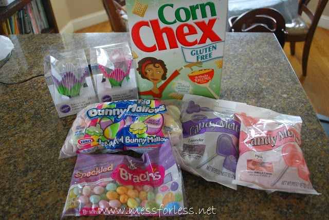 Ingredients for Easter Snack