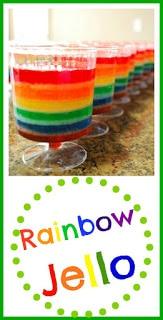 Rainbow Jello - Perfect for Saint Patrick's Day. Kids will love this! #rainbow #jello