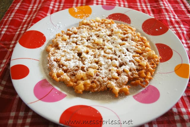 Funnel Cake Recipe Mess For Less