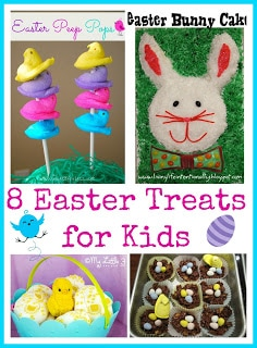 8 Easter Treats for Kids - Fun ideas for tasty treats for an Easter basket or a party. #Easter