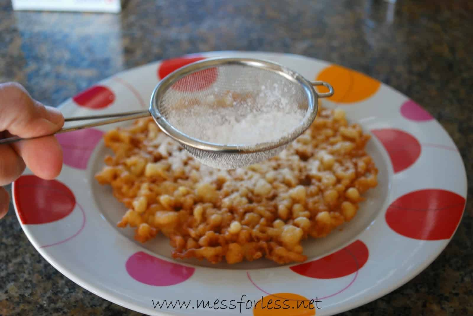 Funnel Cake Recipe - Mess for Less