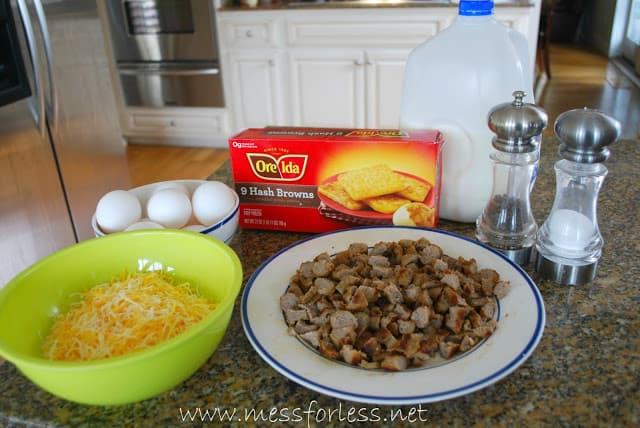 Hash Brown Casserole Ingredients