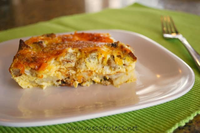Cheesy Hash Brown Breakfast Casserole Recipe #breakfast