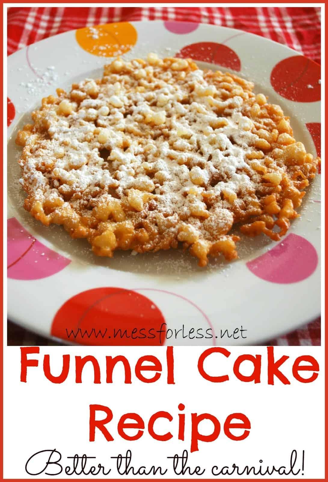 Make Ahead Funnel Cake Recipe