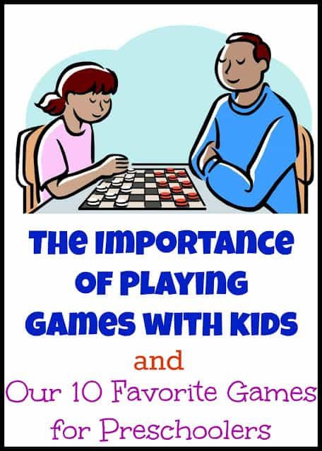 The Importance of Games for Kids plus our 10 favorite games for preschoolers. I can't believe how much kids can learn by playing board games. Here are the best ones around!