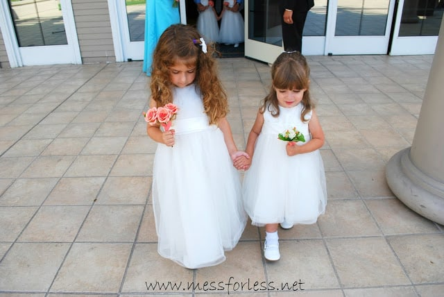 Flowergirls in a wedding