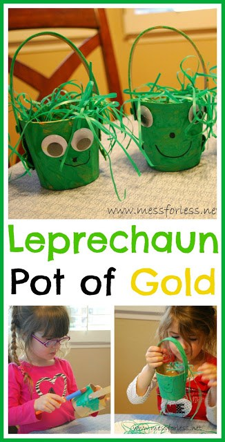 Make a Leprechaun Pot of Gold from Mess For Less