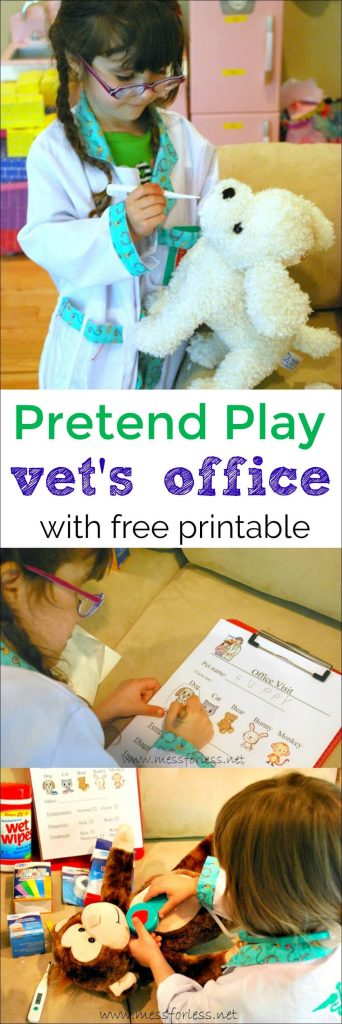 photo about Free Printable Pretend Disney Tickets named Faux Engage in Vets Business office with No cost Printable - Mess for Considerably less
