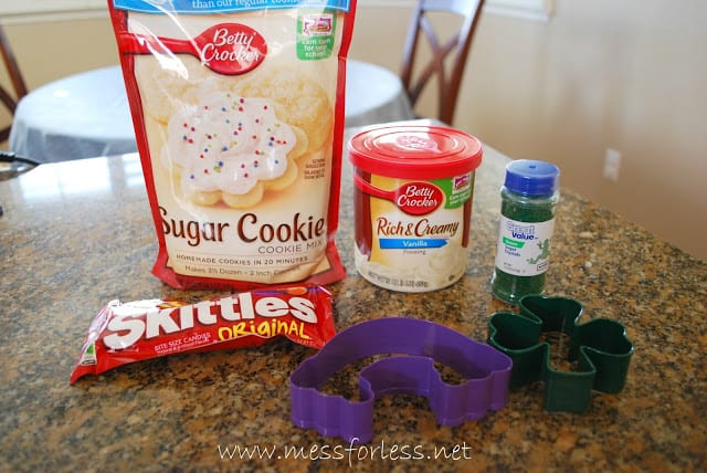 Supplies for End of the Rainbow Cookies