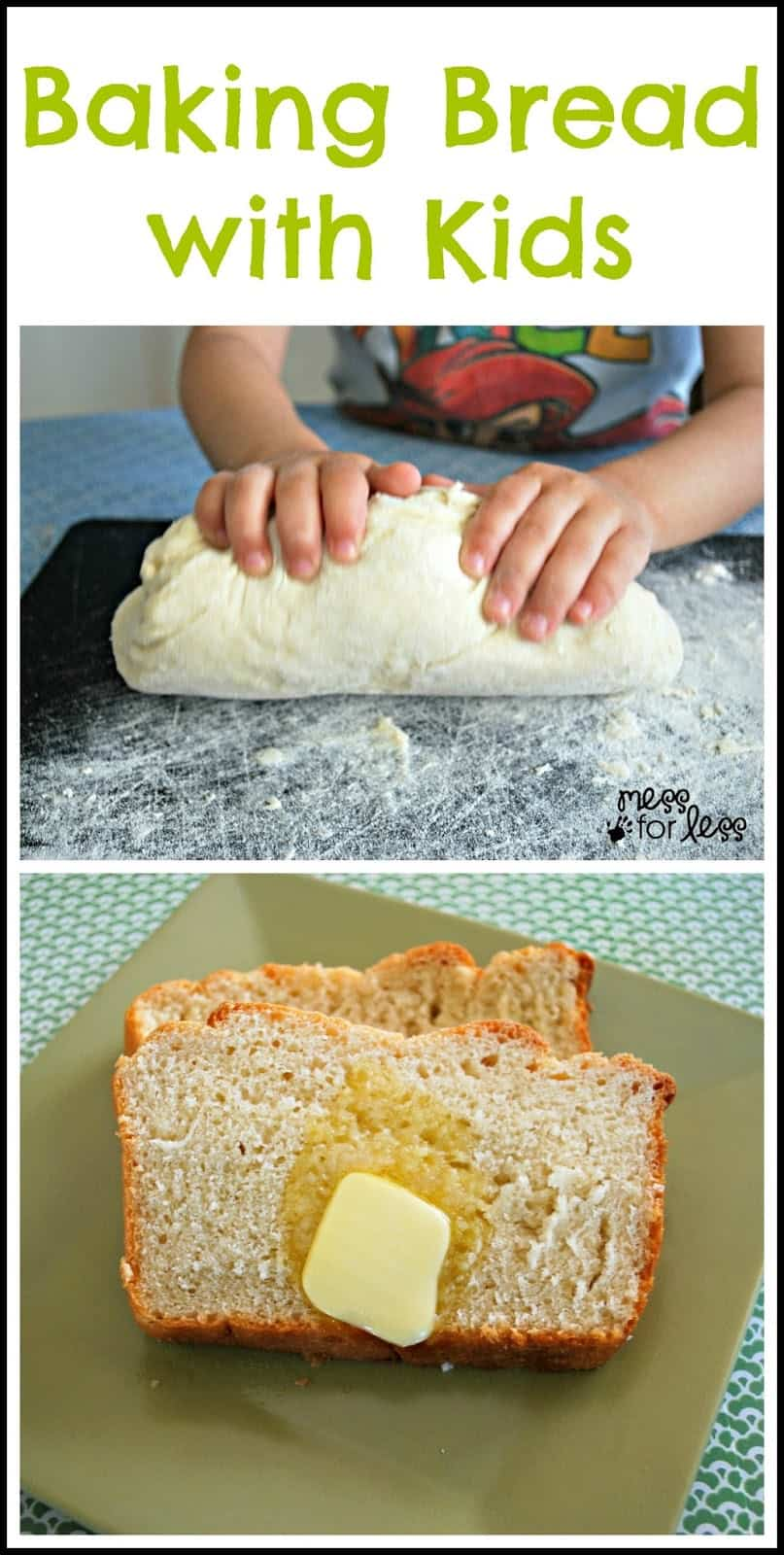 Honey bread recipe food fun friday mess for less - Fun food to make with kids ...